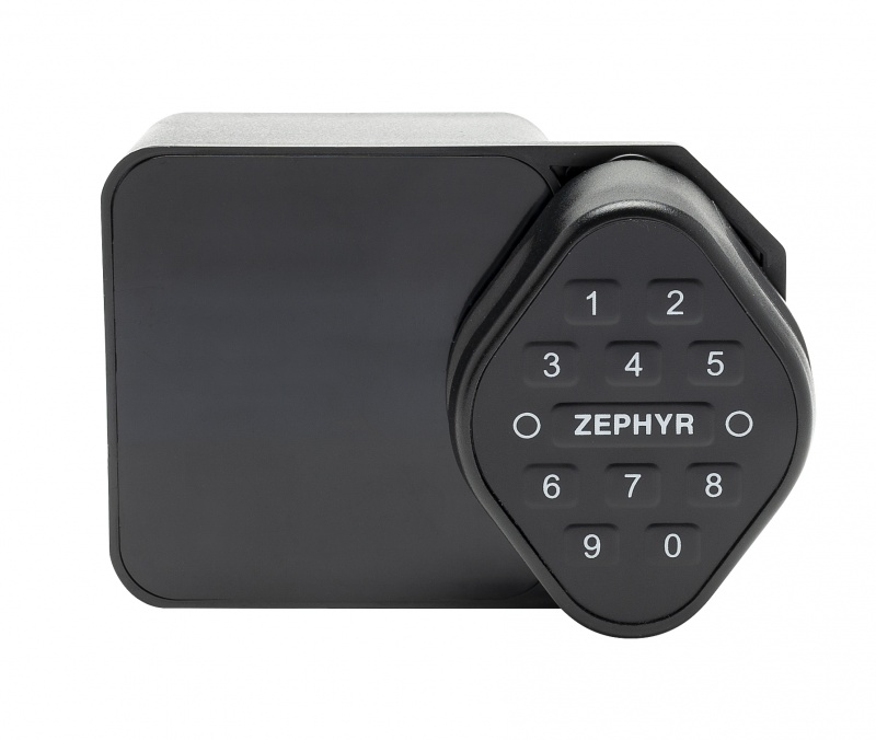Rfid & Keypad Lock Electronic Rfid Lock, Spring Latch, Keypad Access And/Or Card Access For Hinge On Left